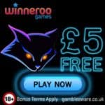 Winneroo Games mobile casino £10 FREE no deposit bonus code