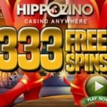 HippoZino Casino 333 Free Spins and No Deposit Bonus
