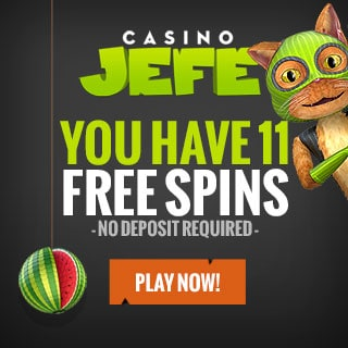 Casino JEFE 211 gratis spins and €900 free bonus
