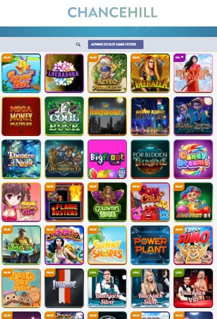 ChanceHill Casino 200 free spins and 100% welcome bonus