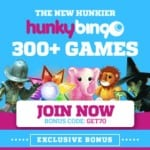 Hunky Bingo Casino 700% bonus   £80 gratis   100 free spins
