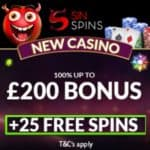 Sin Spins Casino | 25 free spins & €200 free bonus | review