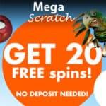 Megascratch Casino – 45 Free Spins & €10 Bonus – No Deposit Required