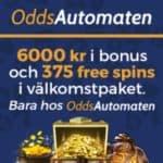 OddsAutomaten | 375 free spins & 6.000 kr bonus | casino & sportsbook