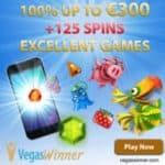Vegas Winner – 125 free spins and 300€ free bonus – Online Casino