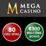 Mega Casino 10 gratis spins   70 free spins   €200 free bonus
