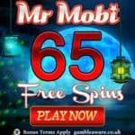 Mr Mobi Casino 50 free spins NDB and 100% up to £200 bonus