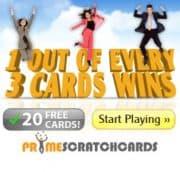 Prime Scratch Cards free bonus