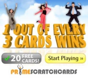 Prime Scratch Cards Casino 120 free spins and €200 free bonus