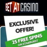 BETAT Casino 75 free spins and 100% up to €500 exclusive bonus