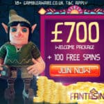 Fantasino Casino – 100 gratis spins and €700 free bonus – mobile OK!
