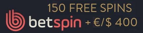 Betspin Casino 150 free spins plus €400 free bonus