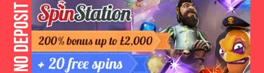 Spin Station Casino 100 free spins and €3000 free bonus