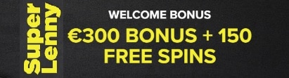 Super Lenny Casino €300 free bonus and 150 gratis spins