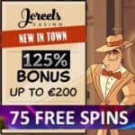 JoReels Casino 125% bonus and 75 gratis spins – Mobile & Live