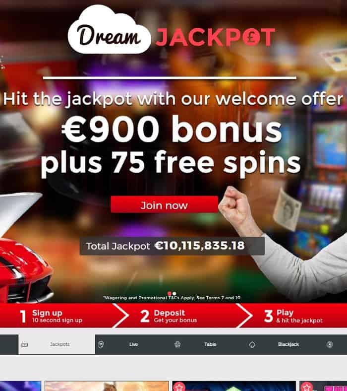 Dream Jackpot Casino Review & Bonus