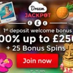 Dream Jackpot Casino | Review & Bonus: £900 chips   75 free spins