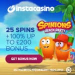 InstaCasino Online & Mobile Games – 25 free spins gratis on video slots