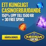 SverigeKronan | 30 free spins   ingen insättningsbonus   1500 kr gratis