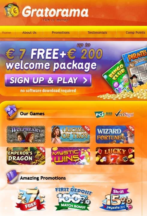 Gratorama Casino Review