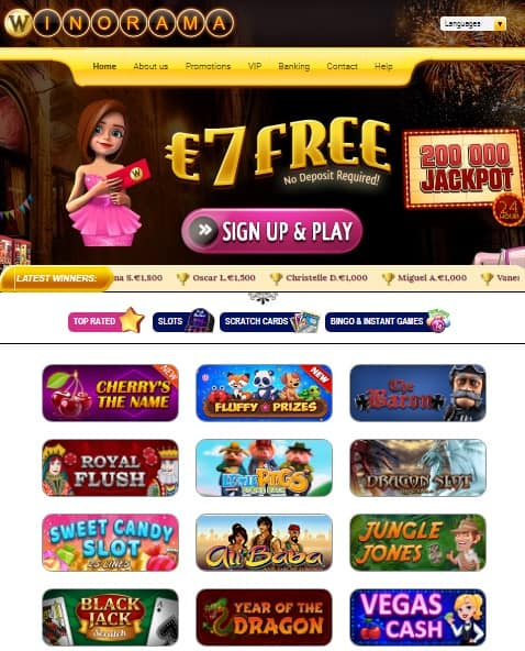 WinoRama Casino Online & Mobile - free scratch cards