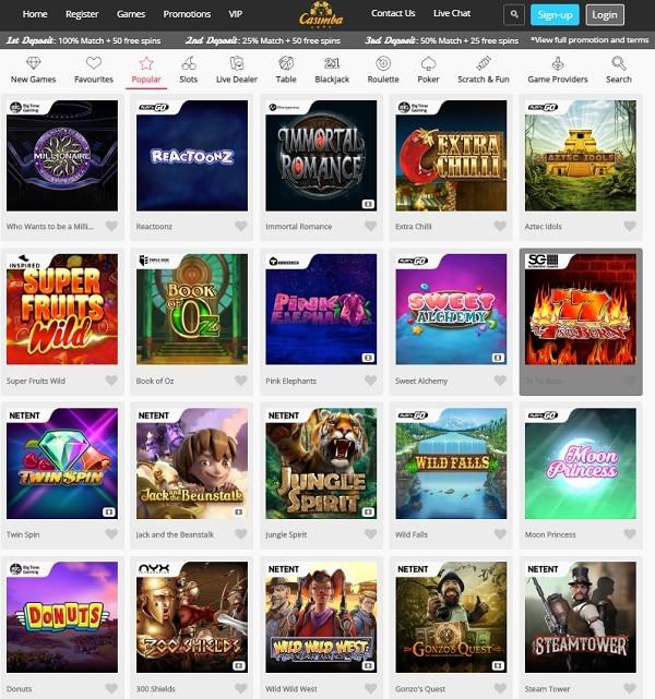 Casimba.com Casino Review