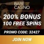 Babe Casino [review] 100 free spins + 400% bonus + €/$3500 gratis