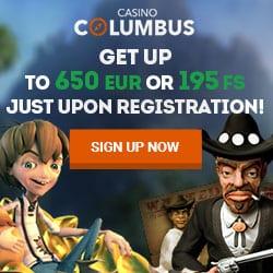 Casino Columbus [review] 195 free spins or €650 bonus on registration
