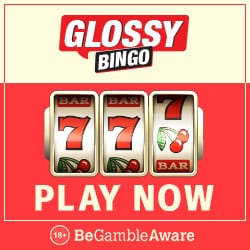 Glossy Bingo Casino - play with 50 free spins and £300 bonus money