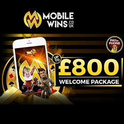 Mobile Wins Casino €800 welcome bonus and free spins on slots