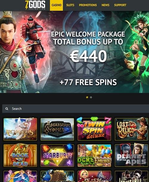 7GodsCasino.com free bonus