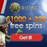 Riobet Casino 100 free spins   100% up to €500 bonus on first deposit