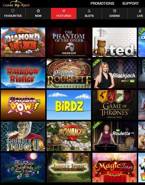 Casino Big Apple free spins