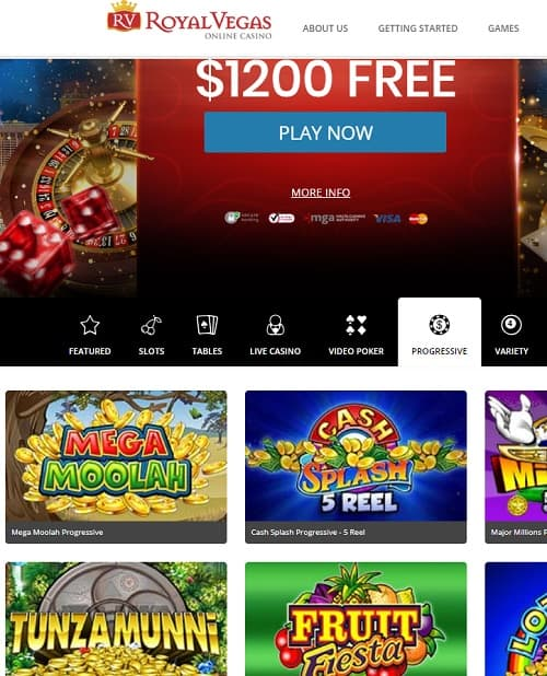 Rroyal Vegas Casino Online and Mobile free games