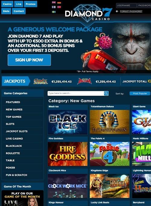 Diamond 7 Casino Free Spins Bonus