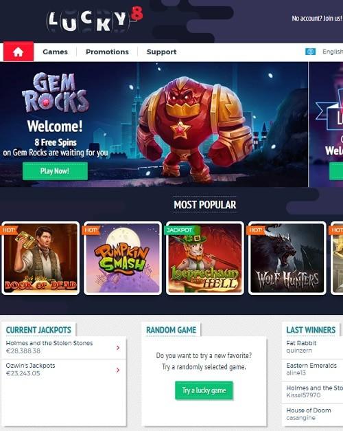 Lucky8.com Casino Review