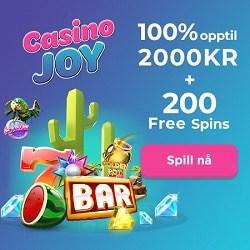 Casino Joy 200 free spins på Starburst og 10,000 kr Velkomstbonus