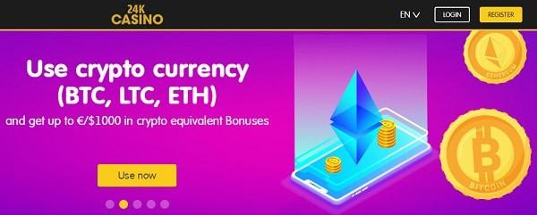 24KCasino.com Crypto Currency - Bitcoin, Litecoin, Ethereum, Ripple, DogeCoin
