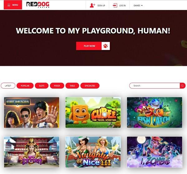 Red Dog Casino free spins bonus