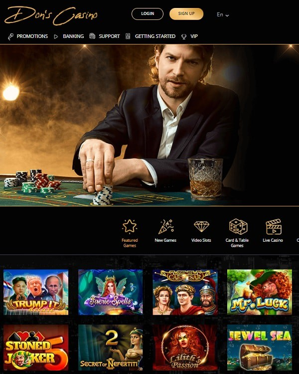Dons Casino screen review