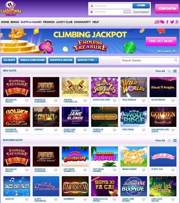 Lucky Pants Bingo Online and Mobile