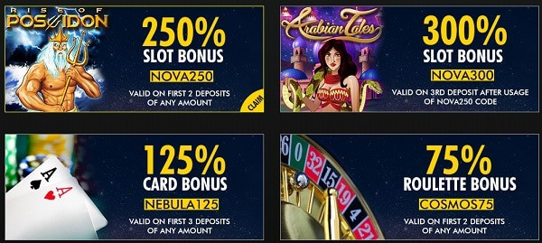 Supernova Casino bonus codes and promotions
