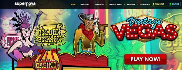 Supernova Casino slot machines and table games by RIVAL