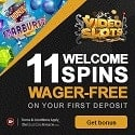 Videoslots Casino 11 free cash spins + 100% up to €200 welcome bonus
