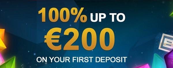 Get 100% casino bonus