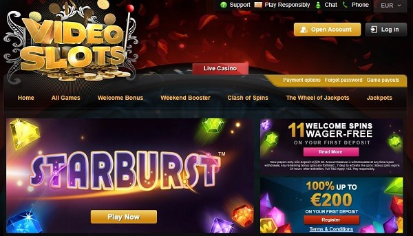Videoslots.com 11 free spins on new slots