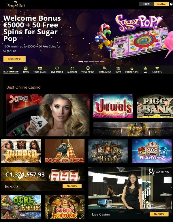50 free spins and 5000 EUR welcome bonus