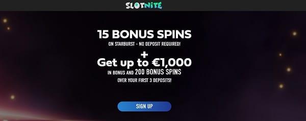 15 gratis spins on Starburst, no deposit required!