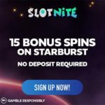 SlotNite Casino 15 free spins no deposit welcome bonus