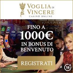 1000 gratis spins to Voglia Casino (Italia)